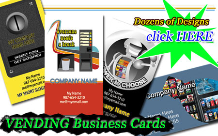 Vending Machine Business Cards for sale