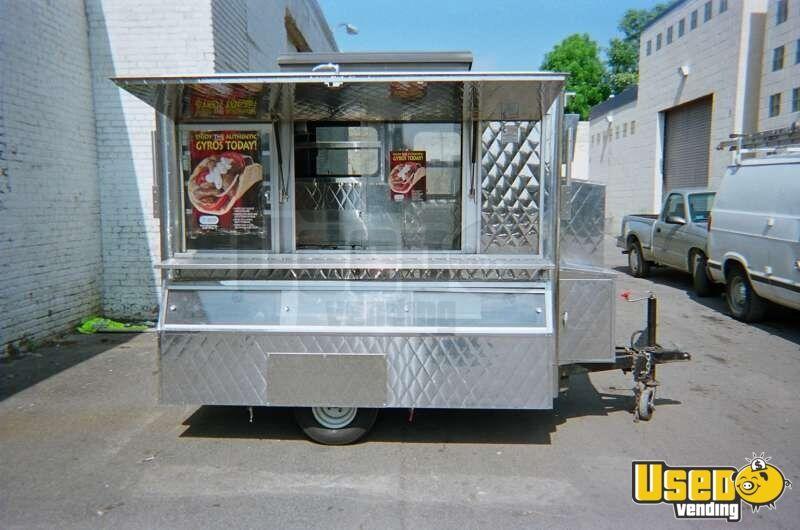 Stainless Steel Food Cart Food Vending Trailer