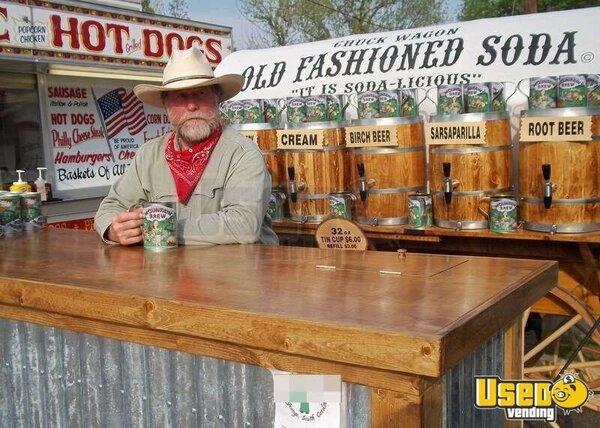Old Fashioned Chuck Wagon Soda Cart Turnkey Soda Wagon