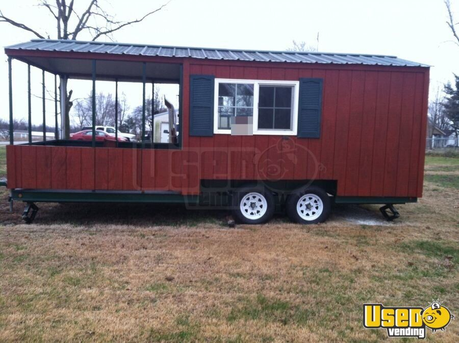 Used BBQ Trailer with Smoker Porch | Concession Trailer ...