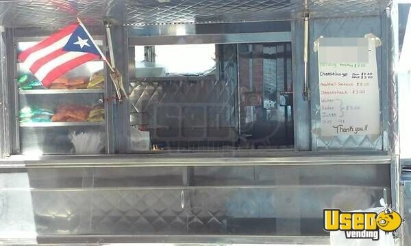 Compact Stainless Steel Concession Food Trailer For Sale